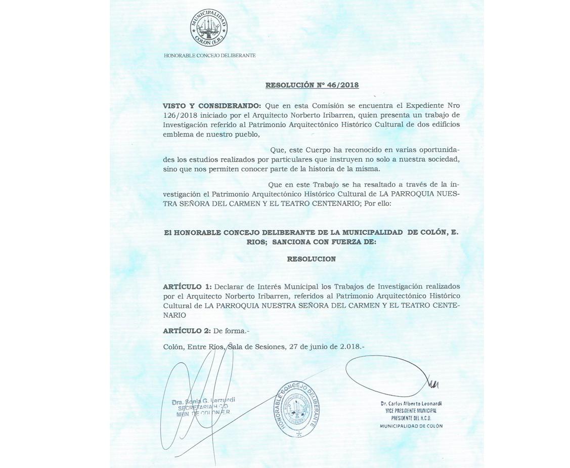 Declaratoria de interés municipal a trabajos de investigación.