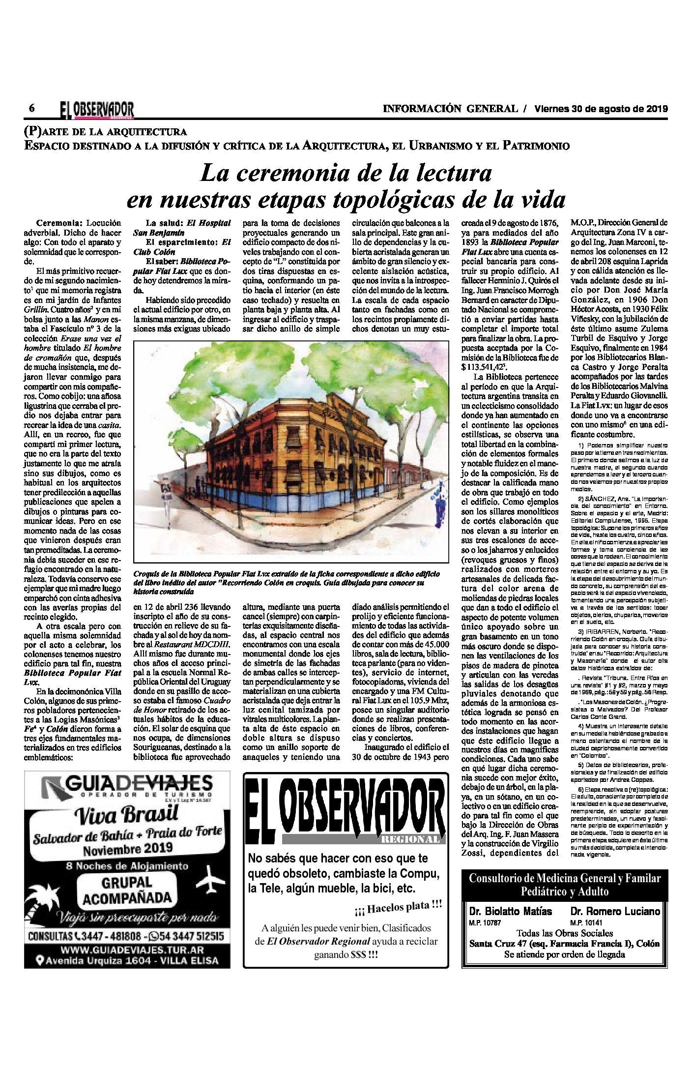 (P)ARTE DE LA ARQUITECTURA. ESPACIO DESTINADO A LA DIFUSIÓN Y CRÍTICA DE LA ARQUITECTURA, EL URBANISMO Y EL PATRIMONIO.